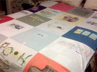 Mary Pat's Mom's T-Shirt Quilt #1