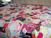 Heidi's Wedding Dress & Baby Clothes Crazy Quilt